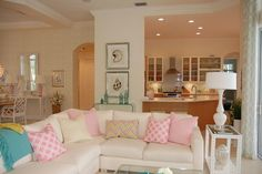 Family Room Pink Design, Pictures, Remodel, Decor and Ideas - page 15