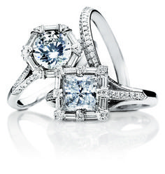 i love the square one. not sure if it is princess cut or not.... but amazing!!!!! so far one of my favs!