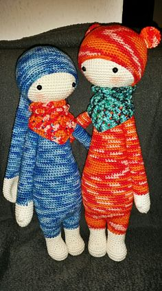 RITA the rabbit and BINA the bear made by Anna S. / crochet pattern by lalylala
