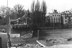 K dokonalému zničeniu došlo dňa 2. apríla 1945 ráno o 7. hodine: http://www.zpiestan.sk/spravy/zachovajte-dostojny-klud-nevybavujte-si-osobne-ucty/