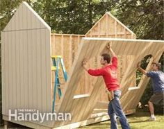 How to Build a Cheap Storage Shed - a few ideas and other sheds too