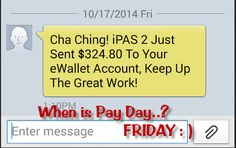 Love to get paid on Fridays :)   #getpaid #workfromhome