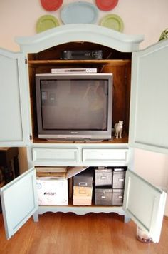 Repurposed Armoireu003d Craft Cabinet? Computer Desk? Tv Cabinet? Snack Pantry?