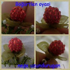 Organze Kurdele oyaları&BÖĞÜRTLEN OYASI&Forex flower,health flower, summ...