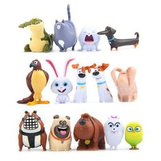 14 pcs Secret Life Of Pets Movie Toy PVC figures birthday cake toppers blind bag in Toys & Hobbies, TV, Movie & Character Toys, Other TV/Movie Character Toys | eBay