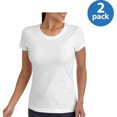 Danskin Now Women's Core Dri-More Crewneck T-Shirt 2 Pack Value Bundle, Size: Medium, White