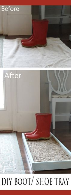 DIY Cobblestone Boot Tray--No More Using Towels at the door!! Looks so much better! Come learn how to make one!!