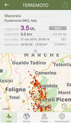 13 minuti fa si è verificata una scossa sismica di intensità 3.5 a Fiordimonte (MC), Italy (Macerata)