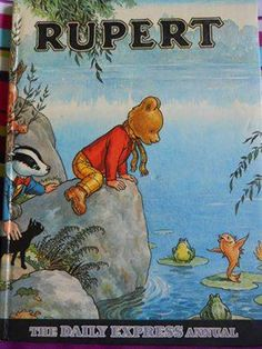 1969 Rupert the Bear, The Daily Express Annual - Vintage Illustrated Children's Story Book by on Etsy Rainy Day Fun, My Childhood Memories, Childhood Images, Childhood Toys, Kids Story Books, Vintage Children's Books, Vintage Posters, Vintage Cartoon, Children's Book Illustration