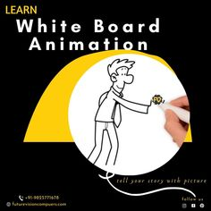 Learn White Board Animation Create Your Own Story Telling Animation.. #Graphicdesign #computerclass #computerinstitute #futurevision #futurevisioncomputers #whiteboardanimation #animation#whiteboard #explainervideo #whiteboardvideo #videoproduction #video #videomarketing #explainervideos #business #corporatevideo #infographic #artistsoninstagram #productioncompany #marketingvideos #motiongraphics #whiteboardart #socialmedia #videomarketingforbusiness #videomarketingservices #marketing