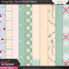 Spring Day Collab - March Winds Papers @Pixelscrapper