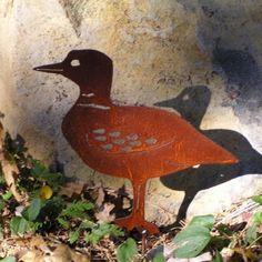 Rusty Finish Loon Metal Silhouette Garden Art Yard by MountainIron, $31.99