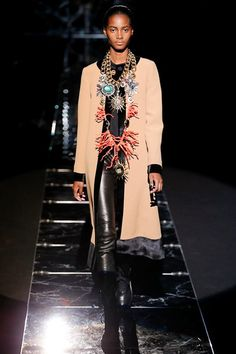 I'd probably poke my eye out with THIS NECKLACE!   Fausto Puglisi Fall 2015 RTW Runway – Vogue