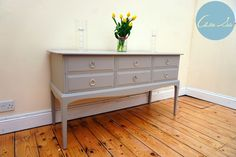 STAG Sideboard Drawers is Painted in Laura Ashley Pale French Grey Stag Furniture, Painted Furniture, Laura Ashley Paint, Drawer Table, French Grey, Home Reno, Home Decor Styles, Sideboard, Creative Design
