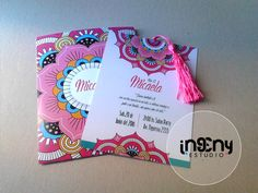 invitacion de 15 años Birthday Party Invitations, Wedding Invitations, Indian Invitations, Neon Party, Mexican Party, Ideas Para Fiestas, Stationery Design, Business Card Design, Invitation Cards