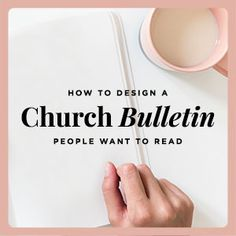 Do your church members read your bulletin, or toss it in the trash? Here are three easy steps to design a church bulletin people will want to read. Church Lobby, Church Foyer, Church Office, Church Stage, Bulletin Board Design, Church Bulletin Boards, Church Outreach, Church Bulletins, Church Ministry