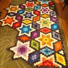Starry Hexagon Quilt by Jennifleur