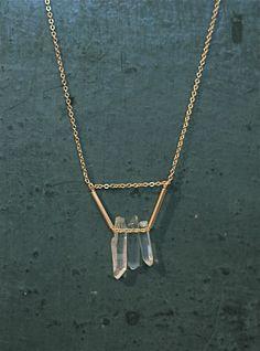 Collier multi cristaux