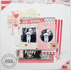 Puppy Love--Pink Paislee - Scrapbook.com