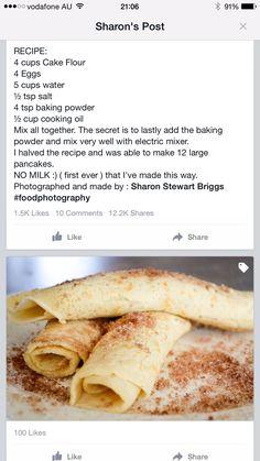 Pancake recipe in 2019 Breakfast Recipes, Dessert Recipes, Cake Recipes, Dessert Ww, Cheesecake Desserts, Wow Recipe, Pancakes And Waffles, Pancake Cupcakes, Kos