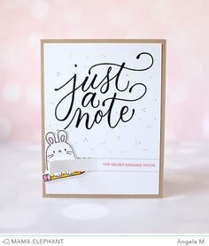 Flamingo Card Notecard Cute A6 Size Note Card Perfect For Sending A little Hello Message to someone special or as a /' Just because /' card