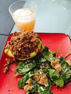 Kombucha and avocado