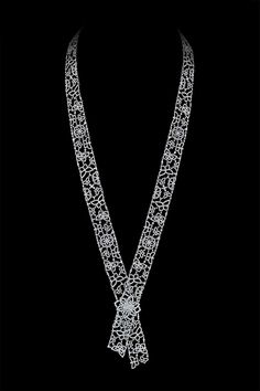 12588227fc5 White gold and diamond necklace from Alexander Arne apos s new SnowChic  collection. Brincos