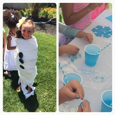Frozen themed party games and activities: Do you want to build a snowman Chunky necklaces