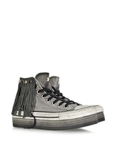 Converse Limited Edition All Star High-top Indie Iron Gray Canvas LTD Fringed Sneaker