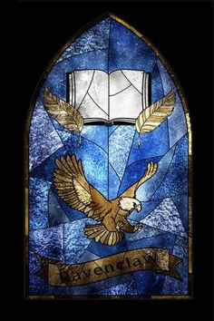 Harry Potter fan art made in Gimp Ravenclaw Stained Glass Harry Potter Houses, Harry Potter Fan Art, Hogwarts Houses, Harry Potter World, Archie Comics, Ravenclaw Logo, Hogwarts Crest, Classe Harry Potter, Harry Potter Aesthetic