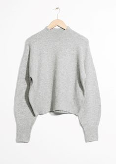 & Other Stories image 1 of Mock Neck Sweater in Grey