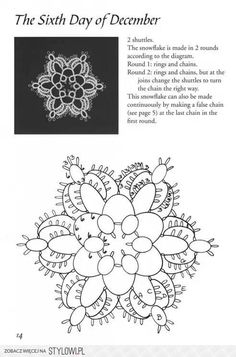 Tatted Snowflake Motif - This site has many patterns. The site is Polish but translates well if needed.