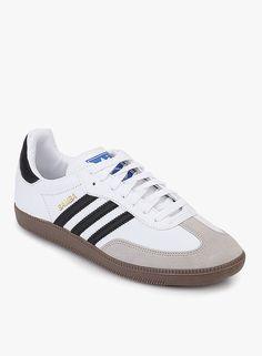 Adidas Originals Samba White Sneakers On LooksGud.in  #Adidas, #White, #Laceup