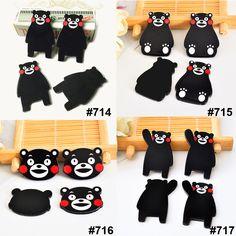 40pcs/lot Mixed Kawaii Japan Cartoon Kumamon Flatback Resin Planar Black Bear Resins DIY Craft for Home Decoration Accessories