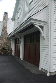 garage overhang idea - no posts. something like this, but simpler.