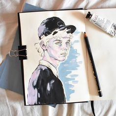 Painting N' Stuff Gluten Free Recipes brasserie v gluten free Art And Illustration, Portrait Illustration, Illustrations, Arte Sketchbook, Watercolor Sketchbook, Watercolor Art, Doodle Sketch, Drawing Sketches, Art Drawings