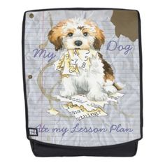 d35ba61486e3  My Havanese Ate my Lesson Plan Backpack -  havanese  puppy  dog
