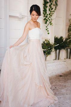 Dreamy gown: http://www.stylemepretty.com/little-black-book-blog/2015/04/22/peach-rustic-boho-wedding-inspiration/ | Photography: Maraluce - http://www.maraluce.com/