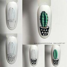 Love Nails, Pretty Nails, Nail Tutorials, Nail Art Designs, Acrylic Nails, Cactus, Painting, Gin, Instagram
