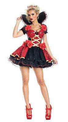 Queen Of Hearts Halloween Costume, New Halloween Costumes, Queen Costume, Ivy Costume, Halloween 2019, Alice In Wonderland Costume, King Fashion, Heart Dress, Cosplay