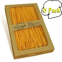 La Pasta di Aldo Filini Egg Pasta, 8.8 Ounces, Pack of 6. La Pasta de Aldo creates these unique egg pasta which summarizes Marche's homemade tradtiion. The homemade pasta is kneaded with eggs along with the different mixtures of flour for each type of traditional Italian pasta cut. They are then hung on a rack and slowly air dried. Their porous pastry gives a singular pleasant taste that expresses the genuineness of their land.