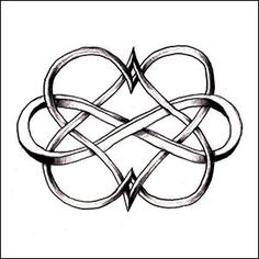 Could be a cute tattoo idea. Two hearts intertwined with an infinity sign. Each heart in the birthstone colour for him and her, and the infinity sign in the birthstone colour for the month they got married. Piercings, Piercing Tattoo, Mother Daughter Tattoos, Tattoos For Daughters, Mother Daughters, Sister Tat, Mother Daughter Celtic Knot, Henne Tattoo, Et Tattoo