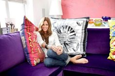 major love for the silk scarves pillows owned by NYC Real Housewife Kelly Bensimon ! Totally making my own.