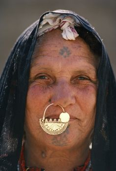 african facial piercing