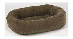 Diamond Microvelvet Donut Pet Bed  Houndstooth Large 42 x 32 x 9 in -- Details can be found by clicking on the image.