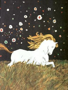 "Illustration by Anatoly Kokoryn | for the book ""Konek-Gorbunok"", written by Pavel Ershov - Russia 1989."