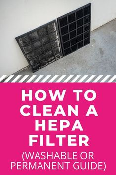 HEPA filters make our air purifiers effective, but to keep air purifiers working well, you also need to clean your HEPA filter. Learn how to clean a HEPA filter, whether it's washable or permanent in this post. #cleanair #freshair #airplants #airfreshner #indoorairquality #airquality #homeairquality #air All Natural Cleaning Products, Diy Cleaning Products, Cleaning Solutions, Household Cleaning Tips, Cleaning Recipes, Cleaning Hacks, Best Cleaner, Diy Carpet Cleaner, Hepa Filter