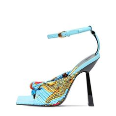 Back Strap, T Strap, Cow Leather, Leather Heels, Toe Length, Yellow Shoes, Open Toe Sandals, Party Shoes, Ankle Strap Heels