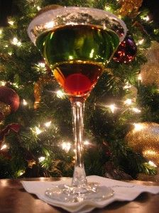 Mistletoe Martini: 4 parts Ultimat Vodka 1/2 oz. Melon Liqueur Shake ...