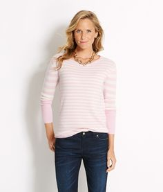 Shop Double Stripe Sweater at vineyard vines
